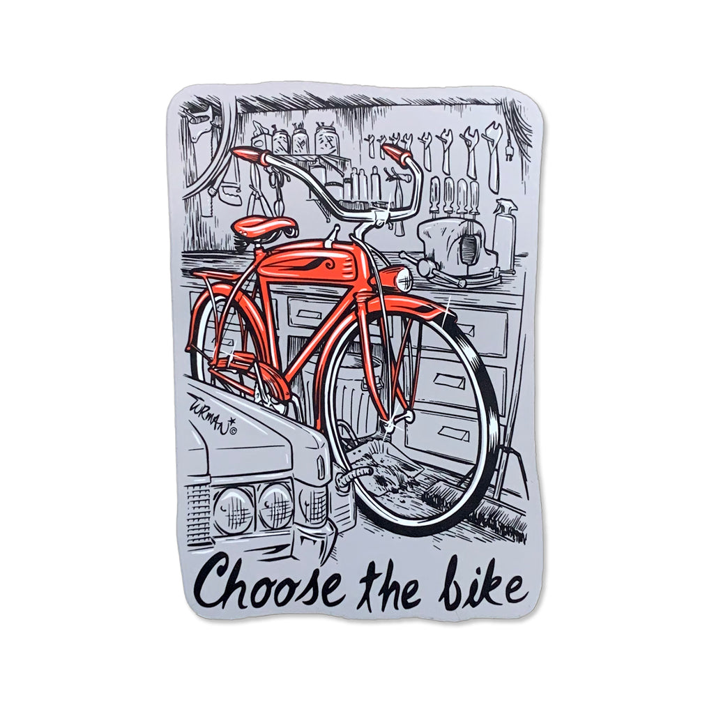 Choose the Bike Sticker