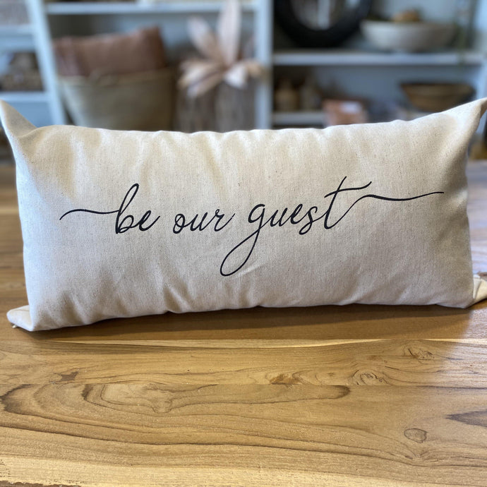 Be Our Guest Lumbar Pillow