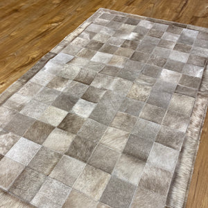 Patchwork Cowhide Rug, 3x5ft