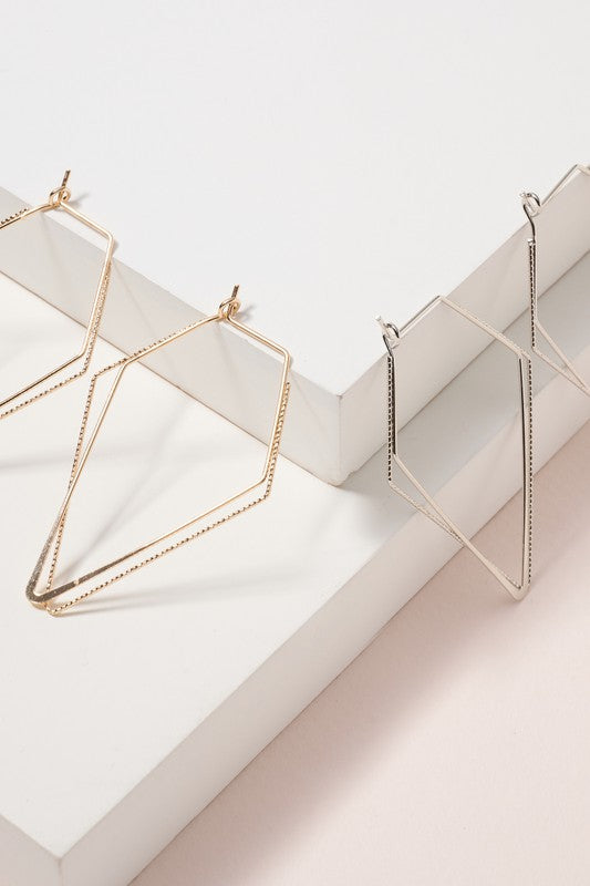 Geometric Layered Hoop Earrings