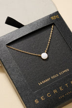 Load image into Gallery viewer, Small Round Stone Pendant Necklace