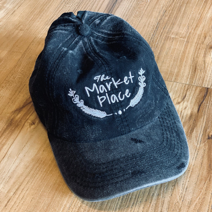 Market Place Distressed Pony Hat