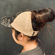 Load image into Gallery viewer, CC Washed Camo Stretch Mesh High Pony Cap