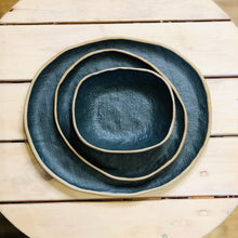 Load image into Gallery viewer, Matte black stoneware bowl, 5x6 inch