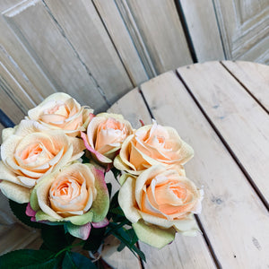 Real touch Rose Bloom Bouquet, 17 inch