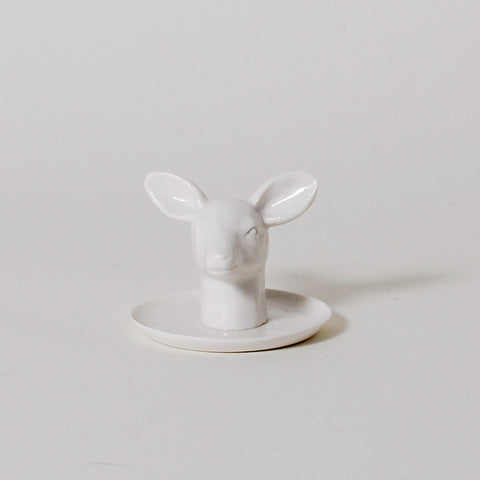 Fauna Series Doe Head Ring Holder