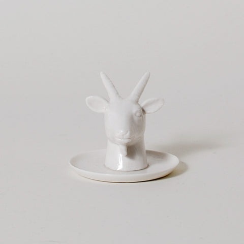Fauna Series Goat Head Ring Holder
