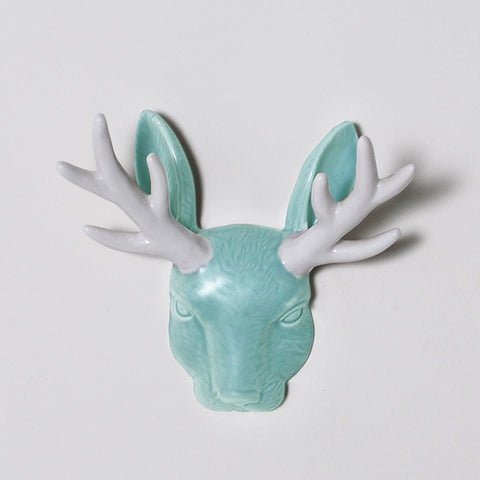 Hunter's Trophy Jackalope Head Wall Jewelry Holder