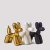 Big Top Balloon Dog Ceramic Bookends - Antique Matte Gold
