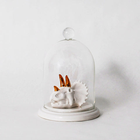 Bells of the Ball Triceratops Skull Bell Jar Ring Holder