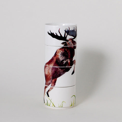 Forest Friends Moose Stacking Mugs