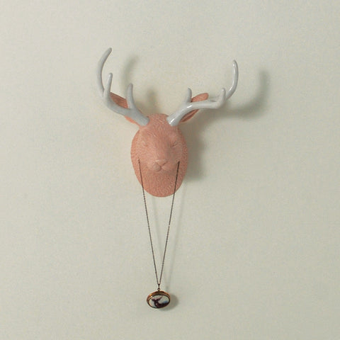 Jack D. Jackalope Wall Jewelry Holder - Watusi Peach