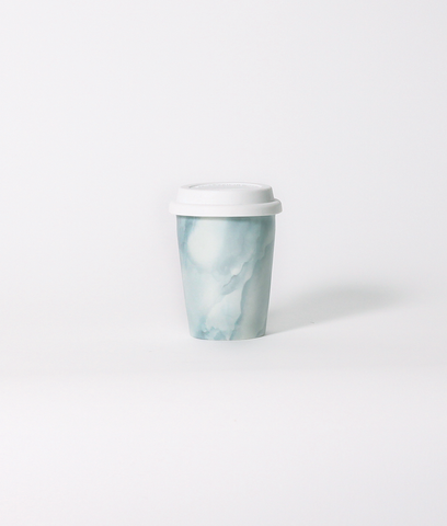 Jarvis Mint Marble Travel Mug