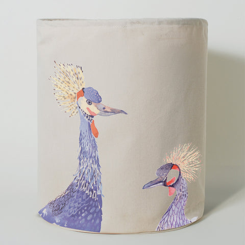 Painted Plumes Crane Laundry Hamper