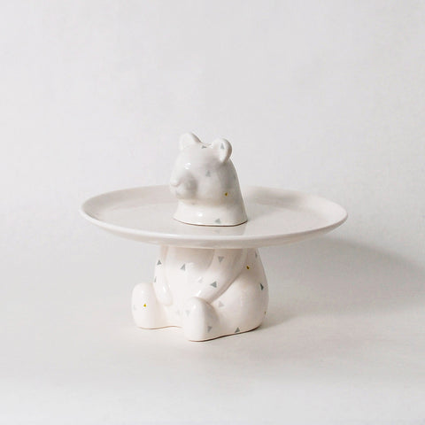 Menagerie Collection Bear Cake Plate