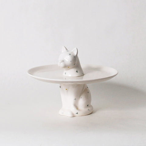 Menagerie Collection Cat Cake Plate
