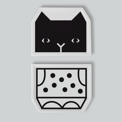 imm Living | Table Top | Tabletop Accessories | Kids | Mix & Match Plates - Cat