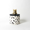Painted Paws Owl Ceramic Canister