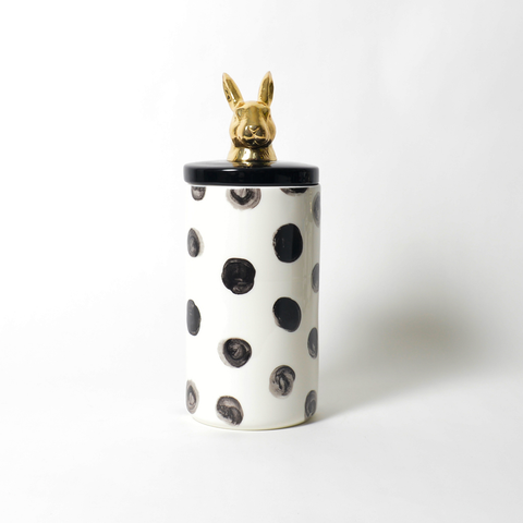 Painted Paws Rabbit Ceramic Canister