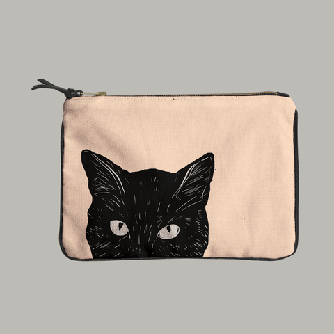 Painted Paws Cat Head Pouch