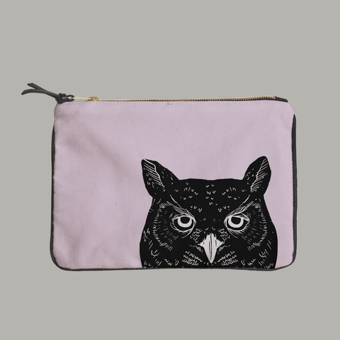 Painted Paws Owl Head Pouch