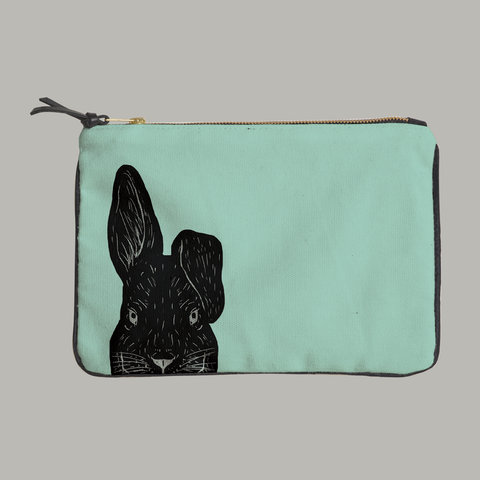 Painted Paws Rabbit Head Pouch
