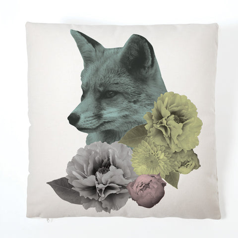 Pastel Pastiche Cushion - Fox