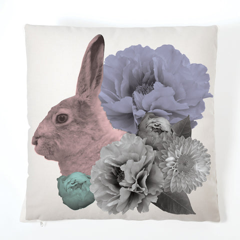 Pastel Pastiche Cushion - Rabbit
