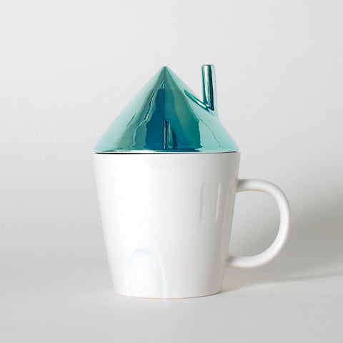 Rise & Shine Blue Roof House Mug