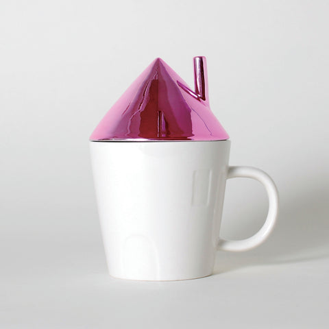 Rise & Shine Pink Roof House Mug