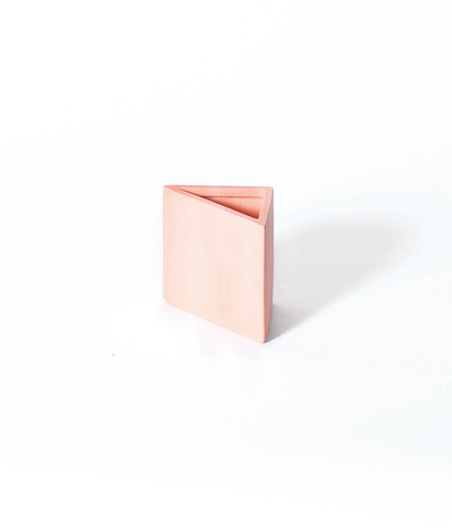 Hazel Peach Triangle Pencil Holder