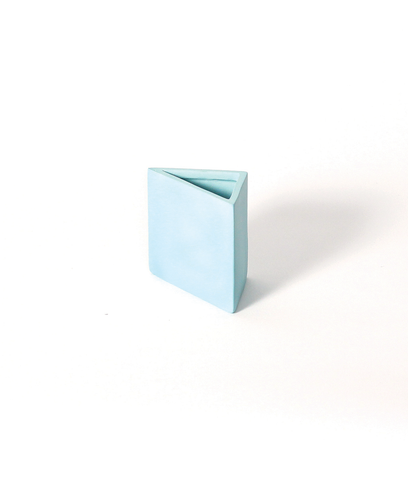 Hazel Teal Triangle Pencil Holder