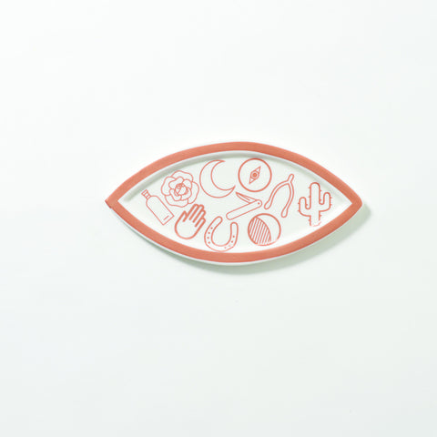 The Ancient Mystics Symbols Eye Ring Holder Dish