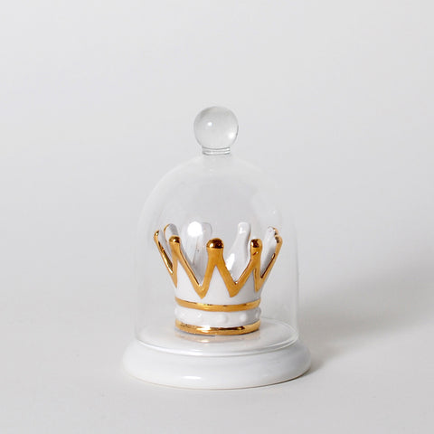 The Crown Jewels Crown Bell Jar Ring Holder