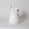 The Dancing Swans Double Head Ceramic Canister