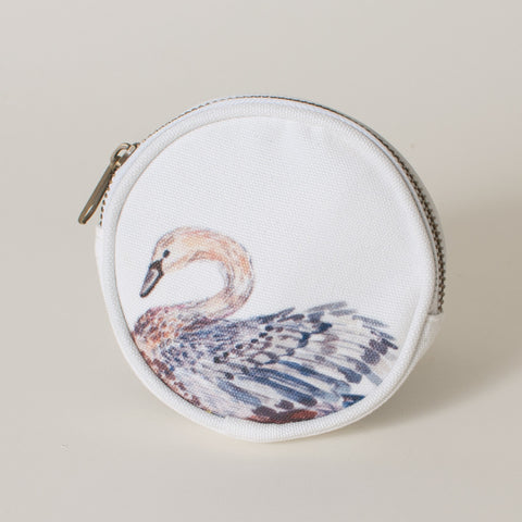 The Dancing Swans White Swan Coin Purse