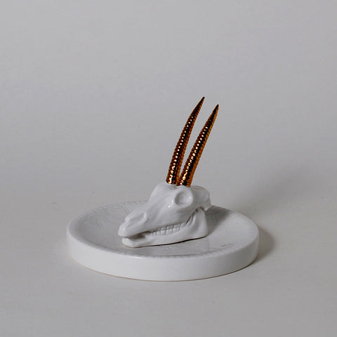 Wild Desert Oryx Ring Holder Dish