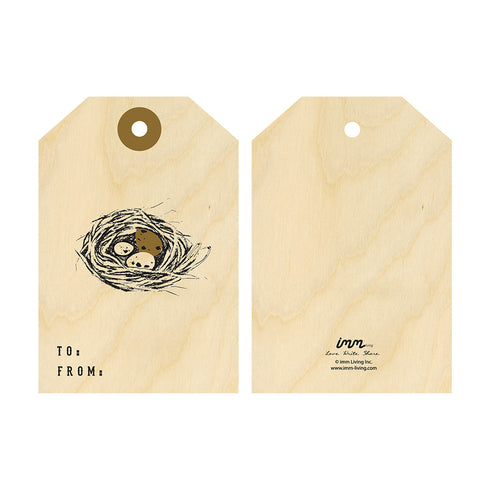 Woodwork Nest Gift Tag