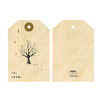 Woodwork Tree Gift Tag