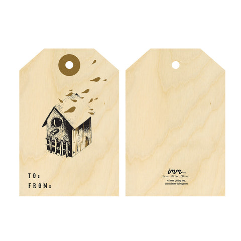 Woodwork Gift Tags - Birdhouse