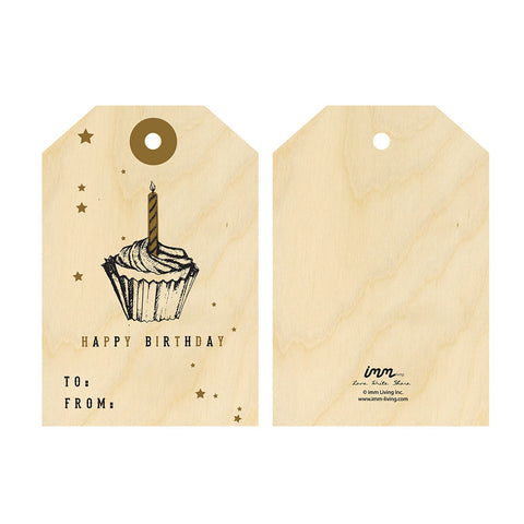 Woodwork Cupcake Gift Tag