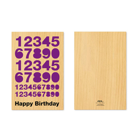 Woodwork Birthday Numbers Pop-Out Card