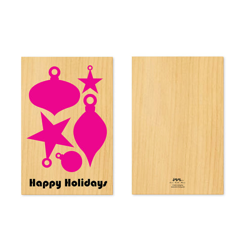Woodwork Holidays Ornaments Pop-Out Card