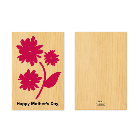 Woodwork Mother's Day Flower Pop-Out Card