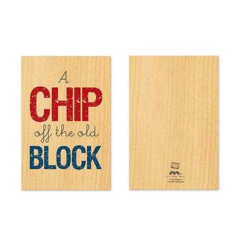 Woodwork A Chip Off the Old Block Card