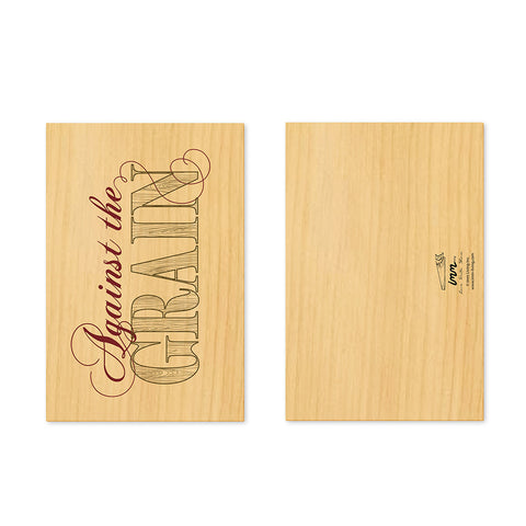 Woodwork Against the Grain Card