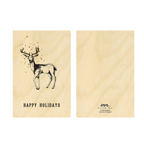 Woodwork Holidays Deer Card