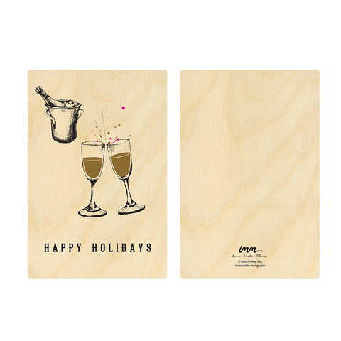 Woodwork Holidays Champagne Card