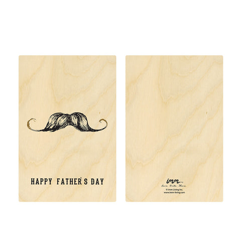 Woodwork Father's Day Mustache Card