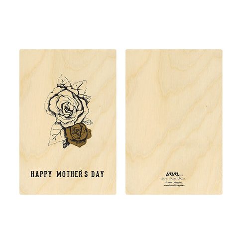 Woodwork Mother's Day Rose Card